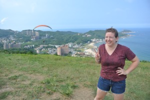 Not so serious picture of me on a cliff near Wanli, Taiwan