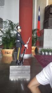 Guards at the memorial