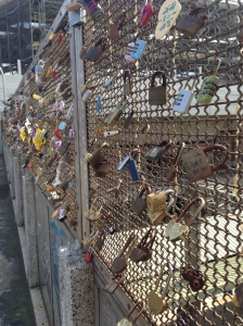 Locks of Love on a bridge near the Fengyuan Train Station