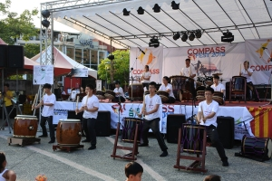 A group that performed with Japanese style drums. They were amazing!