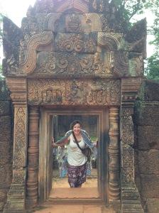 Walking around Angkor Wat in Cambodia - August 2015